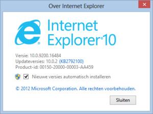 Internet Explorer 10 nu beschikbaar