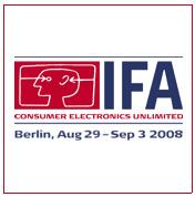 IFA 2008 -messuilla ratsattu näytteilleasettajia
