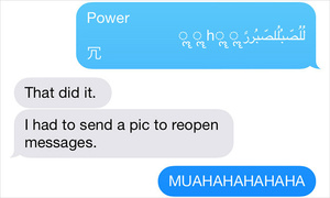 Bug in iMessage freezes the device