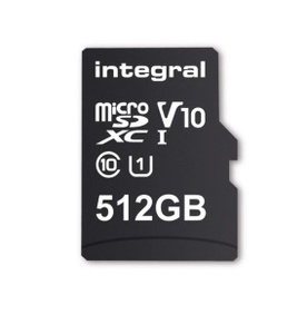 Integral to ship 512GB microSD card