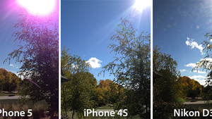 "Apple over ""Purple Flair""  iPhone 5 camera"