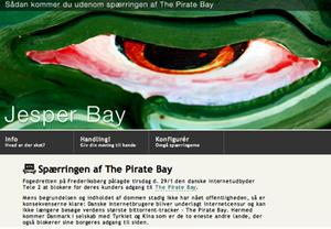 The Pirate Bay laittoi Tanskalle luun kurkkuun