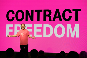 T-Mobile CEO calls Sprint 'a pile of spectrum waiting to be turned into a capability' but will not deny possible merger