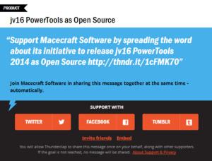 jv16 PowerTools wordt open-source software?