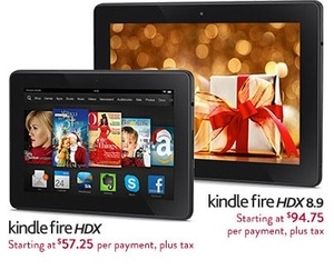 Amazon starts no-interest payment plan option for Kindle Fire HDX tablets
