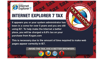 Online retailer to penalize users who use Internet Explorer 7