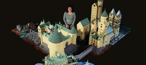 Se Hogwarts bygget op af 400.000 LEGO-klodser