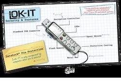 USB drive has built-in PIN keypad
