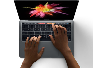 This is the new MacBook Pro with Touch Bar