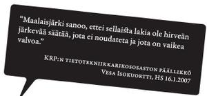 Helsingin Sanomat hylkäsi Masinointi.orgin mainoksen hyvän maun vastaisena