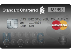 New MasterCard credit card has LCD, keypad