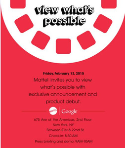 Mattel and Google to unveil a new toy on February 13th