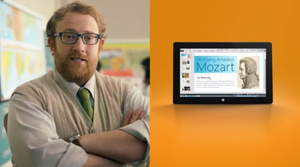 Microsoft ad pushes Surface for 'real work', revisits education scenario