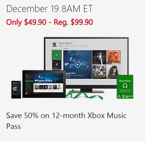 And on the 12th day of Christmas, Microsoft slashed the price of Xbox Music in half