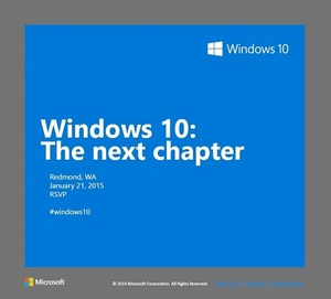 Microsoft to unveil Windows 10 consumer experience