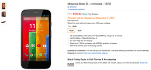 Moto G now available for pre-order on Amazon, as well