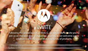 Motorola sends out invites for new product launch