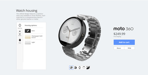 MotoMaker customization coming for the Moto 360 smartwatch