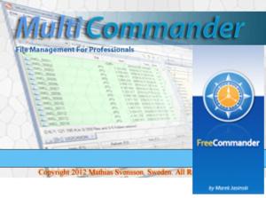 Zoek je een goede bestandsmanager - Multi Commander of FreeCommander XE