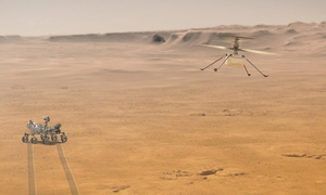 WATCH: Enhanced video of Mars helipcopter flight