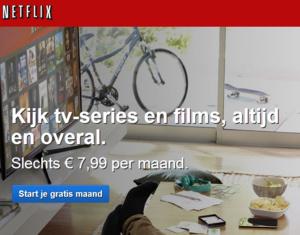 Netflix gelanceerd in Nederland