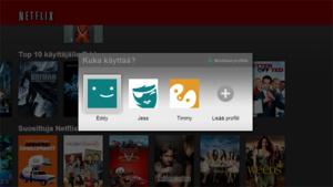 Netflix saa käyttäjäprofiilit