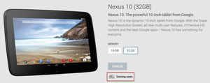 Google's updated Nexus 10 is 'coming soon'?