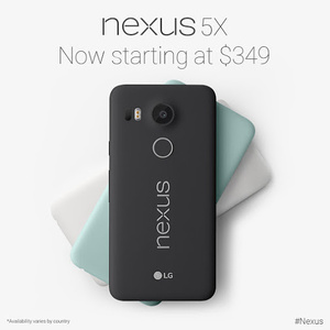 Google drops price of Nexus 5X to start at $349