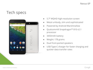 Google Nexus 6P leaked in its entirety