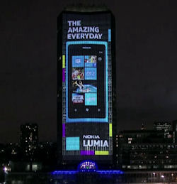 VIDEO: Nokia puts on '4D' projection show in London for Lumia