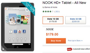 Barnes & Noble drops the prices of their Nook HD and Nook HD+ tablets for this week