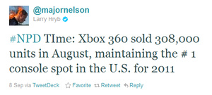 Xbox 360 outsells rivals again in August, in U.S.