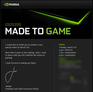 Nvidia will 'redefine the future of gaming' on March 3rd