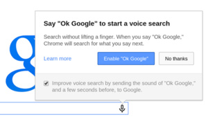 'OK Google' voice search command now available for all Chrome users