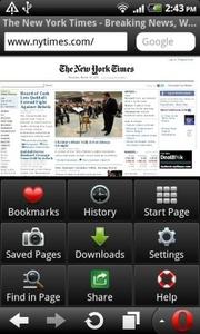 Opera Mobile 11 voor Android en Symbian