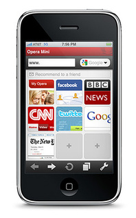2.6 million iPhone owners using Opera Mini now