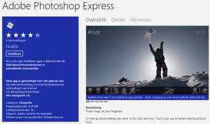 Adobe komt met gratis Photoshop Express app voor Windows 8