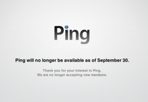 Apple shutting down failed Ping music social network