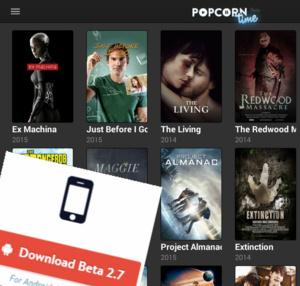 Popcorn In Your Browser alweer uit de lucht, wel nieuwe versie 2.7 voor Android