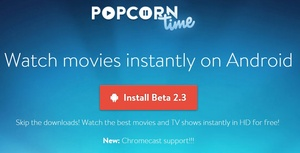 Popcorn Time for Android updated to beta 2.3 adding subtitle support
