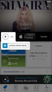 Shazam to allow full song streaming in-app through Rdio partnership