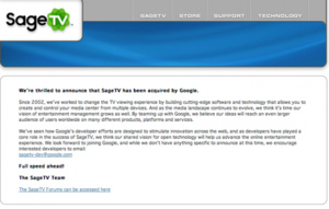 Google acquires SageTV