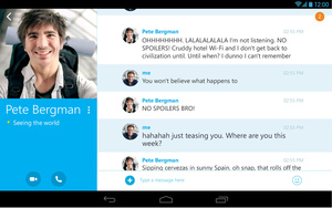 Skype gets video enhancements, UI improvements on Android tablets