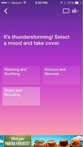 Songza music app can now recommend tracks based on current weather