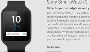 Sony SmartWatch 3 now live in the Google Play Store