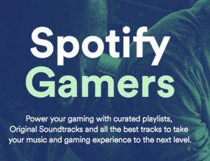 Spotifyn uusi osio tarjoaa musiikkia pelaajille