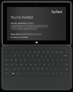 Microsoft sends out invites to Surface 2 press event
