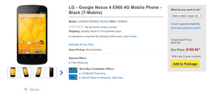 T-Mobile version of Nexus 4 now available at Best Buy, Wirefly