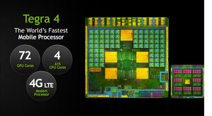 Nvidia's Tegra 4 clocks in at 2GHz