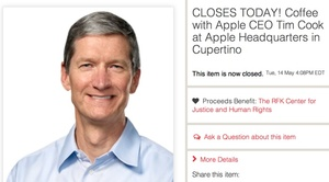Charity auction for coffee with Tim Cook ends at $610,000